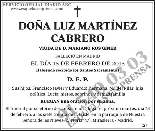 Luz Martínez Cabrero